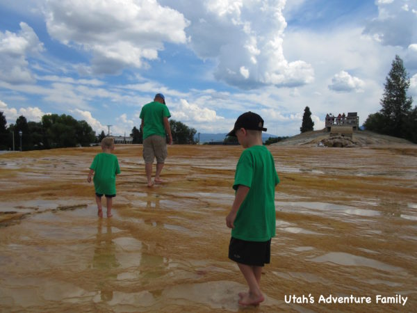 We walked around in the water for quite awhile enjoying the coolness on a hot summer day.