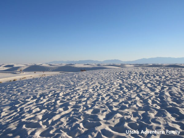There is white sand everywhere! It is truly amazing.