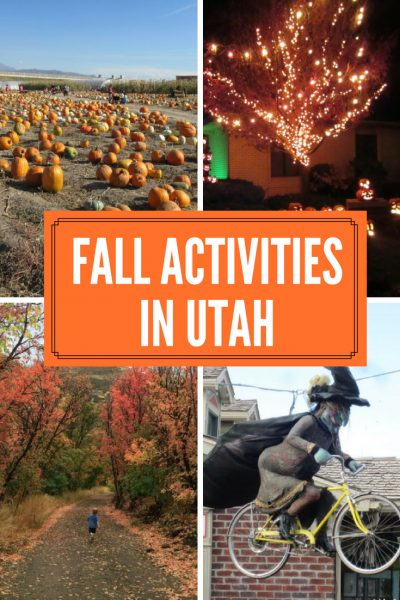 fall activities in Utah pinterest image