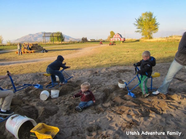 The sandpit was a huge hit with our boys.