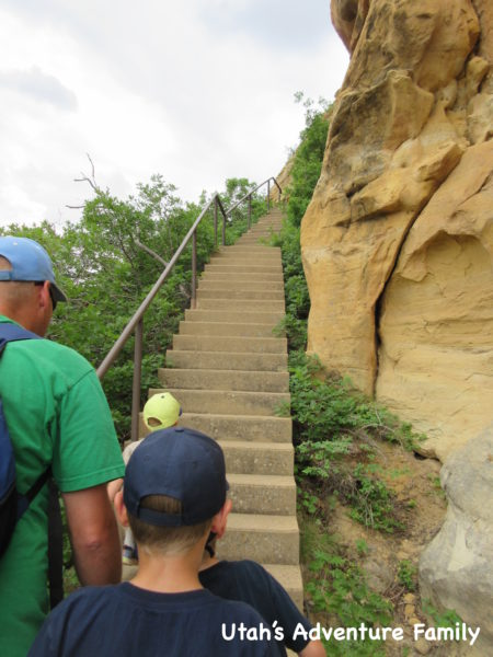 These are the stairs that you will come down. We actually went backwards, so we want to make sure you get on the trail the right direction (it doesn't matter too much).