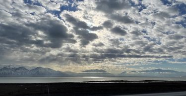 View across Utah lake
