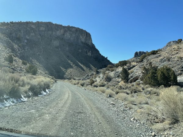The dirt road in Marjum Pass