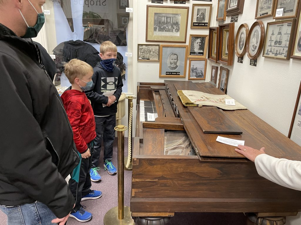 an old piano from pioneer times