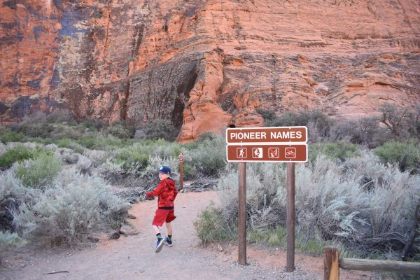 Pioneer Names sign in Snow Canyon State Park
