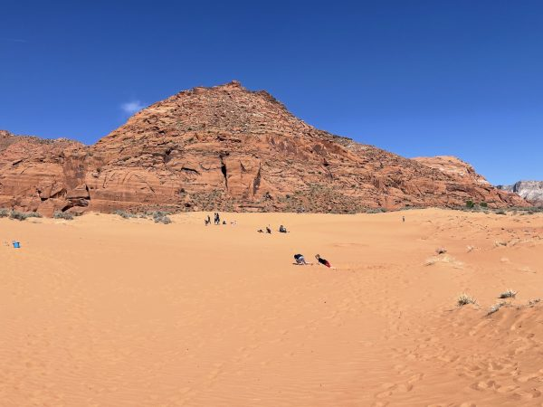 sand dunes at Snow Canyon