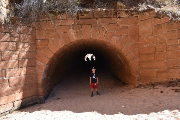 Tunnel under the Zion National Park road